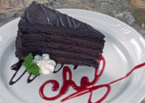 Chocolate Cake at Big Meadows Dining Room