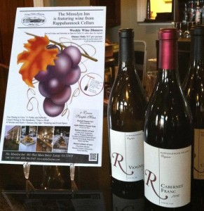 Wine Dinners at the Mimslyn Inn