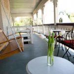 Swing on porch