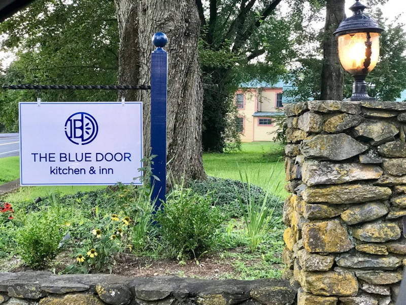 Blue Door Kitchen Sign